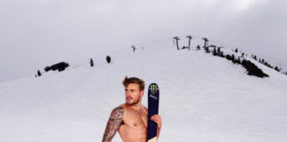 Gus Kenworthy in the snow