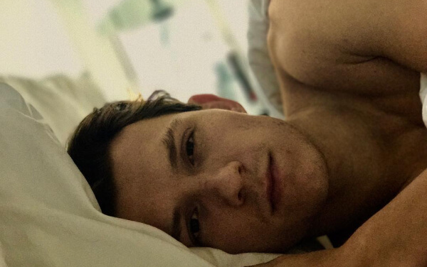 Tom Holland in bed