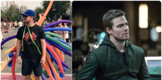 Stephen Amell vancouver pride2
