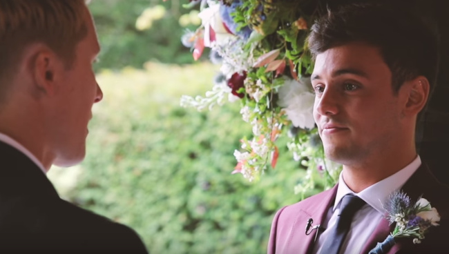 Tom Daley and Dustin Lance Black wedding video