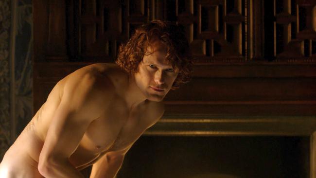 Sam Heughan naked front outlander
