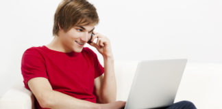 Young Man with a computer
