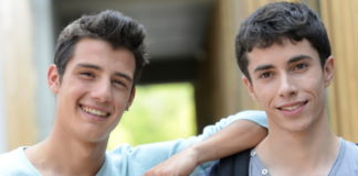 Two students friends