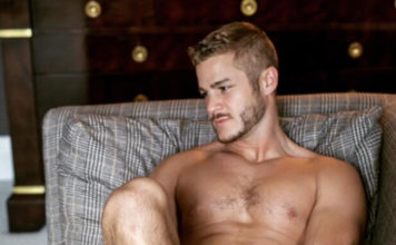 Austin Armacost on the couch
