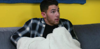 Nick Jonas caught in the act