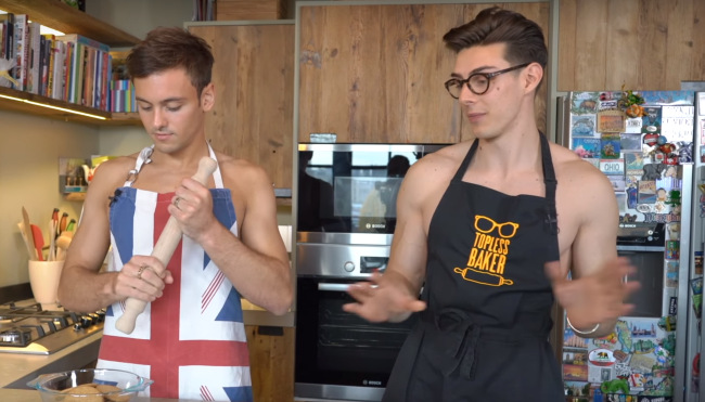 Tom Daley and The Topless Baker