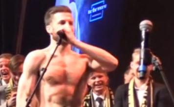 Aleksander Melgalvis Andreassean Norwegian soccer player nude