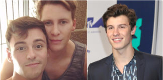 Tom Daley Dustin Lance Black Shawn Mendes