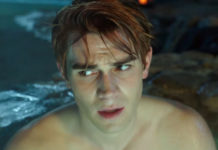 KJ Apa hot tub scene