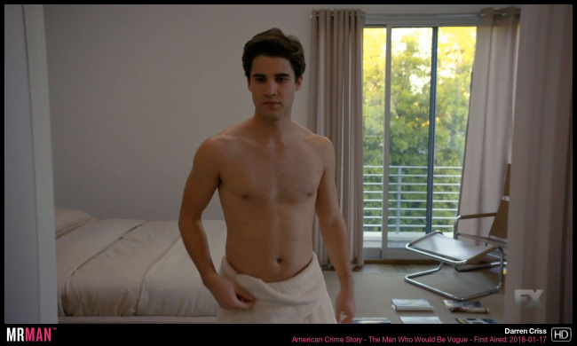 Darren Criss shirtless american crime story