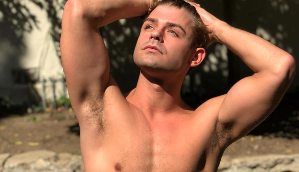 Garrett Clayton shirtless