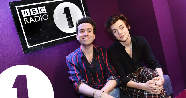 Harry Styles Nick Grimshaw BBC1