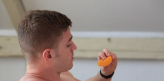 Tom Bentley peach scene xxx