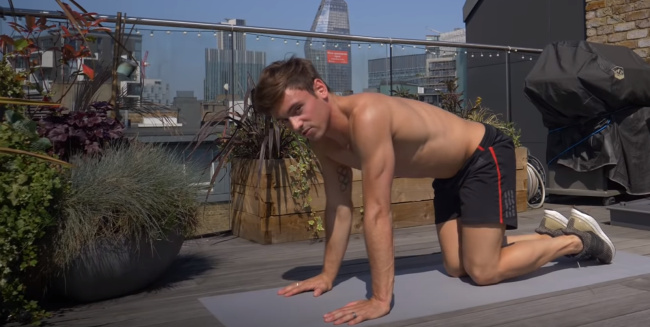 Tom Daley butt workout
