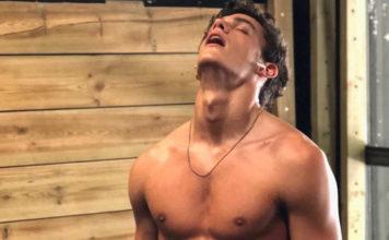 Xavier Serrano shirtless