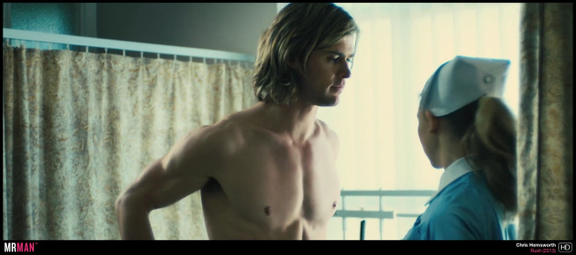 Chris Hemsworth shirtless young rush