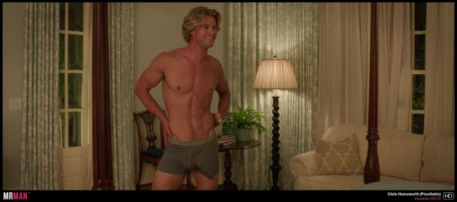 Chris Hemsworth underwear rush