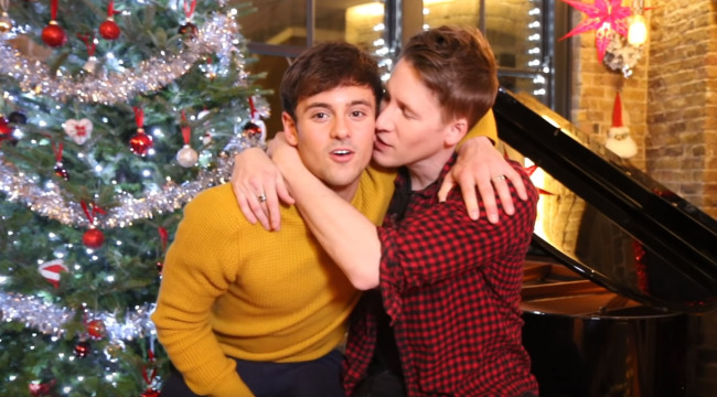 Tom Daley dustin lance black kissing