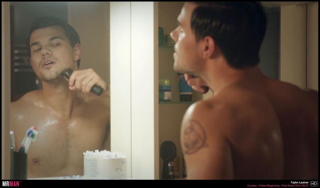 Taylor Lautner shaving