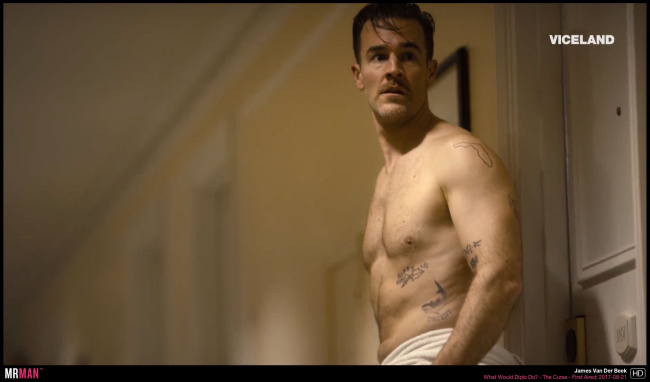 James van der beek shirtless towel