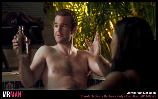 James van der beekshirtless franklin and bash
