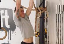 Shawn Mendes gym pullups