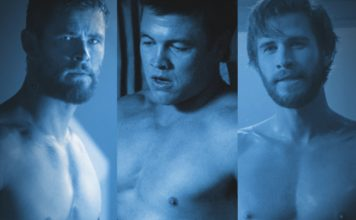 hemsworth brothers shirtless