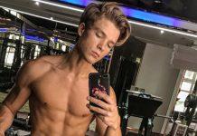 Oliver Svejstrup Brynnum model shirtless