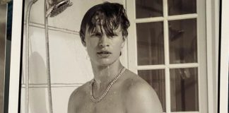 Ansel Elgort naked in shower