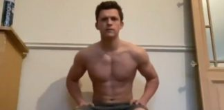 Tom Holland shirtless challenge