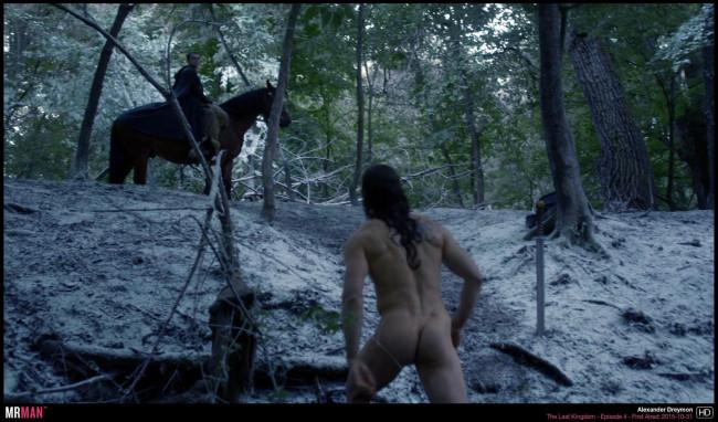 Alexander Dreymon running naked