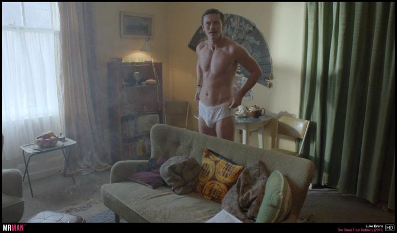 Luke Evans sous-vêtements Le grand vol de train