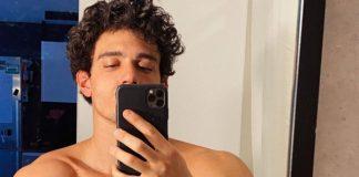 xavier shirtless selfie